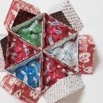 Hướng dẫn làm hộp giấy hình tam giác nhỏ xinh