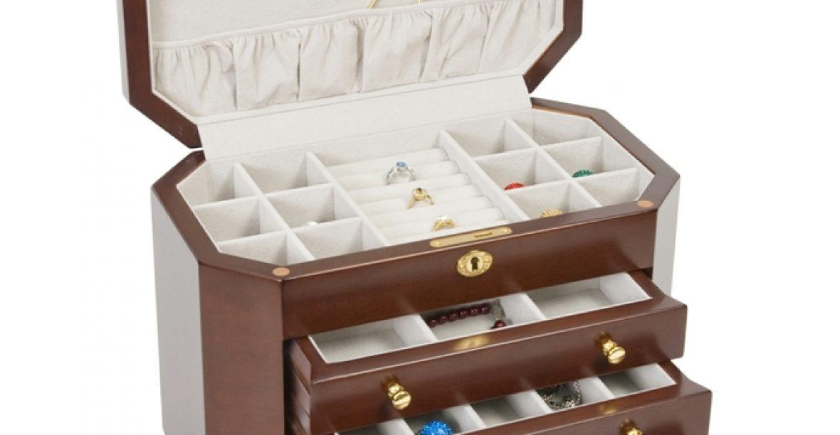 Hộp đựng đồ trang sức bằng gỗ – đồ dùng cần thiết của phái đẹp